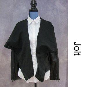 NEW Jolt Black Moto Vegan Leather Jacket Size L